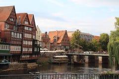 吕讷堡市中心-德国 免版税库存图片
