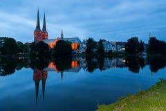 吕贝克大教堂,德国 免版税库存照片