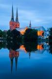 吕贝克大教堂,德国 库存图片