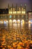 吕贝克,德国- 2016年11月12日:吕贝克正方形  库存照片