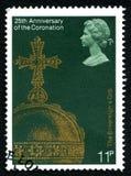 君主天体英国邮票 库存图片
