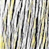 从吠声的橡木黑色,白色和黄色纹理 库存照片