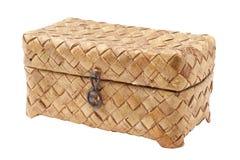吠声篮子桦树配件箱柳条 图库摄影