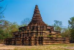 吨Kok寺庙, Wieng在Lanna历史记录的Tha Kan塔, : 部分 免版税库存图片