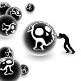 含毒物的范围 免版税库存图片
