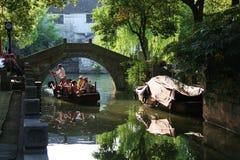 含水古老的城镇 库存图片