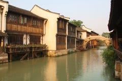 含水的城镇 图库摄影