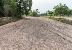 含沙土壤为准备好犁对耕种 免版税库存照片