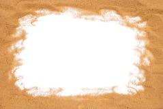 含沙的框架 库存图片
