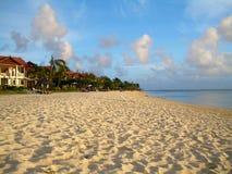含沙的毛里求斯 免版税库存照片