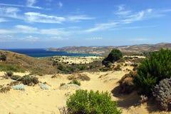 含沙的沙丘 免版税图库摄影