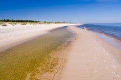 含沙的海岸线 免版税库存照片