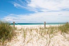 含沙的海滩 免版税图库摄影