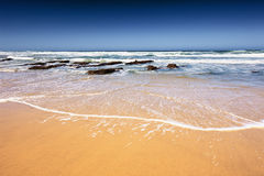 含沙的海滩 库存照片