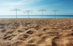 含沙的海滩 免版税库存照片