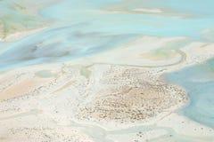 含沙的湖 图库摄影