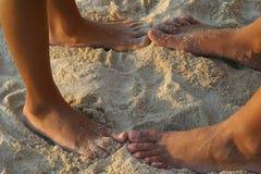 含沙的英尺 库存照片