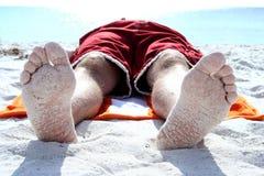 含沙的英尺 免版税库存图片