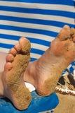 含沙的英尺 库存图片