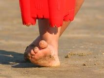 含沙脚趾 免版税库存照片