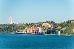 含油种子工厂设备在里斯本,葡萄牙 库存图片