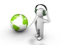 听世界 免版税库存照片