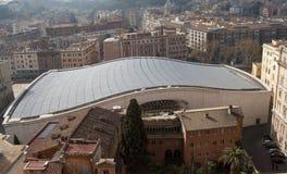 听众市政厅屋顶梵蒂冈 图库摄影