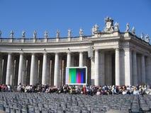 听众教皇 免版税图库摄影