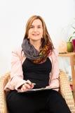 听您的女性心理学家 免版税库存图片