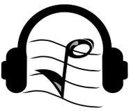听的音乐 库存照片