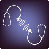 听诊器联系 库存照片