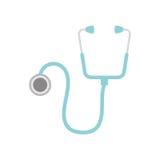 听诊器医疗被隔绝的象 向量例证