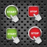 启动和停止键 免版税库存图片