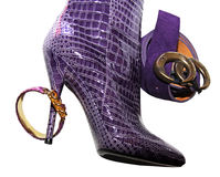 启动女性紫红色 免版税库存照片