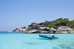 启动similan第八个海岛的岩石 库存图片