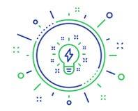 启发线象 创造性电灯泡标志 ?? 向量例证