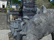 启定帝,颜色,越南坟茔。联合国科教文组织世界遗产名录站点。 库存照片