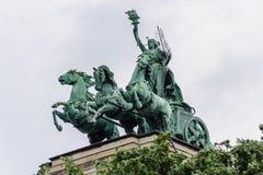 启示布达佩斯的精神 库存照片