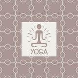 启示瑜伽演播室设计卡片 免版税库存图片