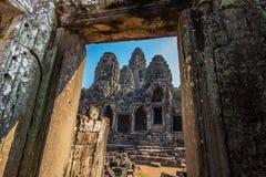 吴哥窟寺庙,暹粒市,柬埔寨废墟 库存图片