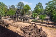 吴哥窟寺庙,暹粒市,柬埔寨废墟 免版税库存图片