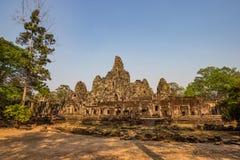 吴哥窟寺庙,暹粒市,柬埔寨废墟 免版税库存照片