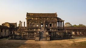 吴哥窟寺庙,暹粒市,柬埔寨废墟 免版税图库摄影