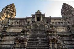 吴哥窟寺庙,暹粒市,柬埔寨废墟 库存照片