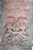 吴哥窟, Cambodiaa巨型印度寺庙复合体在柬埔寨,致力神Vishnu 库存照片