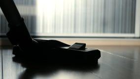 吸尘与刷子,特写镜头的地板 HD 免版税图库摄影