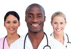 吸引人医疗纵向小组 免版税库存照片