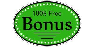 吸引人的贴纸奖金100%释放 免版税库存图片