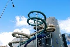 水吸引力公园在德鲁斯基宁凯温泉城市 免版税图库摄影