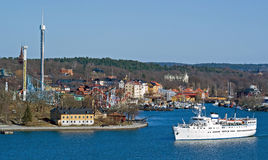 吸引力公园斯德哥尔摩 免版税库存图片